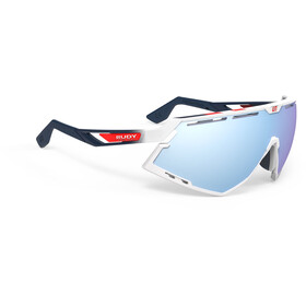 Rudy Project Defender Occhiali, white gloss/fade blue/red stripes/white/multilaser ice